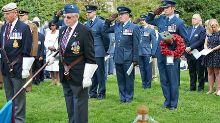 A memorial service has been held for the Spitfire pilots, one of whom had family in Harpenden