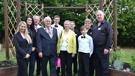 A new visitors centre and sensory garden at Potters Crouch Candles have been opened by the Mayor of