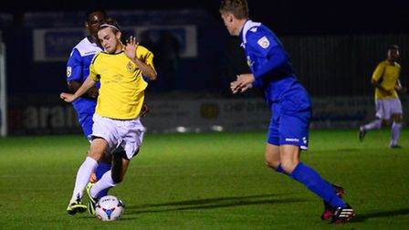 David Keenleyside played at the tip of a midfield diamond against Bishop's Stortford. Picture: Bob W