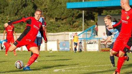 Ollie Thorne strikes on his return to the club. Picture: Claire Howes