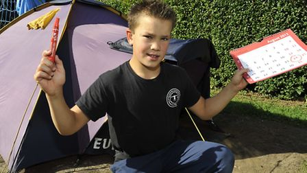 Gymnast Harry O'Driscoll from Buckden, who completes a year sleeping under canvas on August 24