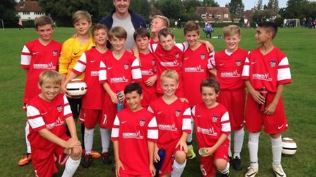 Harpenden Colts U12 Eagles with Malky Mackay