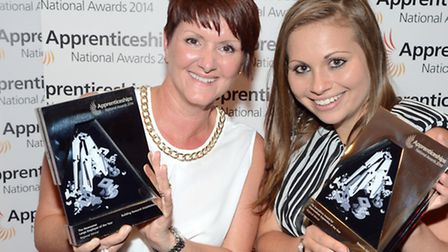 Danielle Calvert (right), pictured with another of the winners, Tara Bishop of Building Research Est