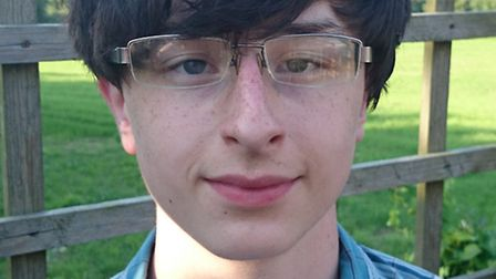 Matthew Waller who has been nominated for a Cambridgeshire Linx Young People of the Year award.