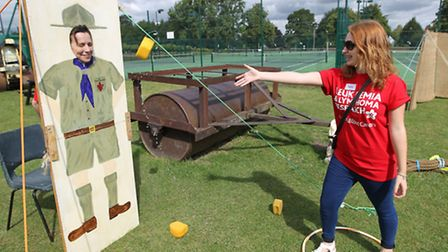 Sophie Payne taking part in the fun day, which has raised more than £7,000