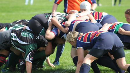 Action from OA Saints' 75-0 win over New Ash Green.