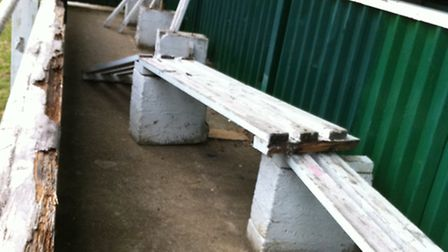 Harpenden Town Football Club has again been struck by vandals