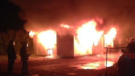 At least 40 firefighters worked through the night to tackle the blaze.