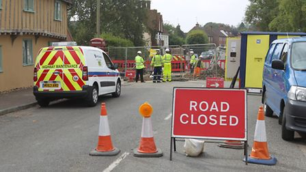 Barkway High Street remains closed due to roadworks