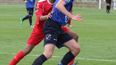 James Kaloczi in action during his loan spell at Wingate and Finchley. Picture: Martin Addison
