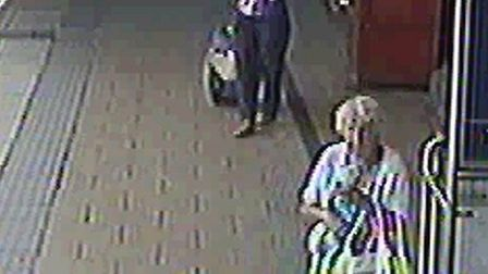 CCTV footage of pensioners purse theft, at Leeds Station.