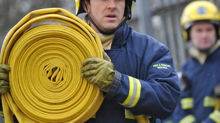 Firefighters tackled the bonfire after an arson attack in Papworth Everard.