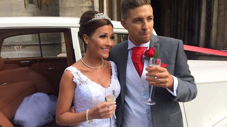 James Bourne and Daniela Maccioni were married in the Lady's Chapel at St Albans Cathedral