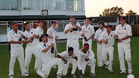 Shenley celebrate their win. Picture: John Smith
