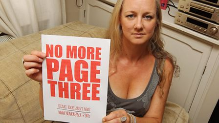 Louise Restell is campaigning to remove the Sun newspaper from family establishments