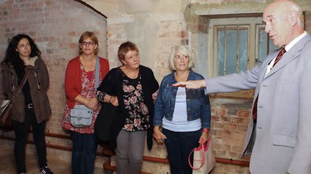 St Albans City guide Terry Turner takes people into the cells beneath the old courthouse on the Crim