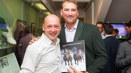 """Harpenden author Marc Aspland's book """"The Art of Sports Photography"""" was launched at the MCC Museum,"""