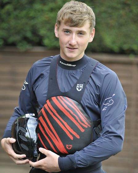 Blake Allsop, from St Neots, who is on the verge of making it big in the world of canoeing.