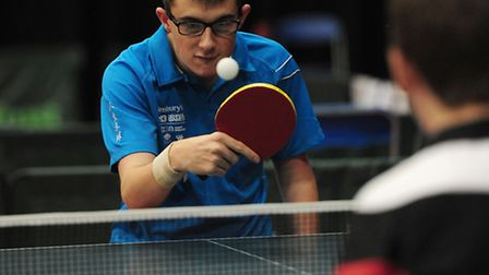 England Midlands Daniel Bullen in action in the table tennis event during day three of the 2013 Sain