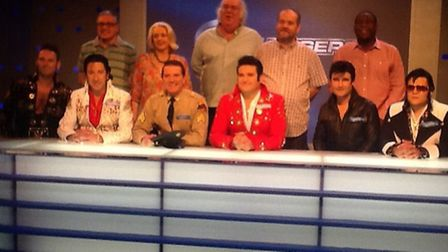 The team of Elvis impersonators on Eggheads