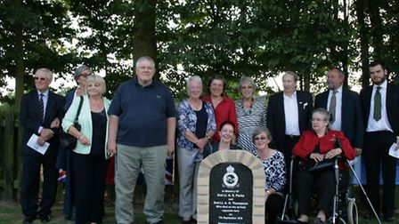 The unveiling of a new memorial to two airmen who died at Upwood during the First World War. Picture