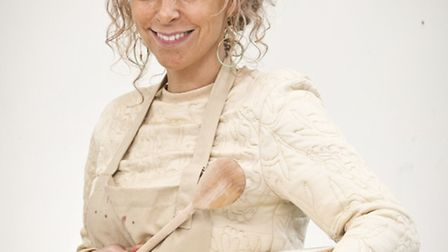 Kimbolton's Kate Henry on the Great British Bake Off. Picture: BBC/Love Productions/Mark Bourdillon.