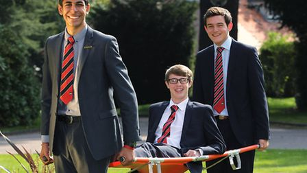 St Columba's College students Rohan Mapara, Alex Gillingham and James Charteris helped a man who fel