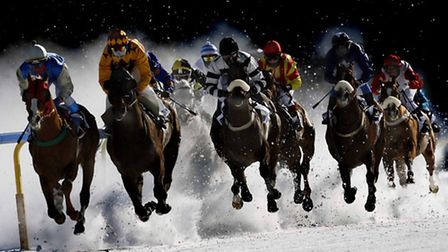 The 101st running of 'White Turf' - the European Snow Meeting 2008, on the frozen lake at St Moritz,