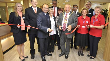 The official opening of the new front of house at Hinchingbrooke Hospital. Picture: HELEN DRAKE.