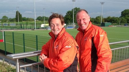 St Albans HC's Head Coaches, Hannah Macleod and Andy Halliday.
