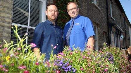 Adam Savage, Winner of Roads in Bloom competition with Marcus Cousins, from horticultural Aylett Nur