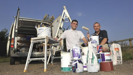 SJS Property Services, will donate their time for a charity, (l-r) Aaron Ball, and owner Scott Spenc