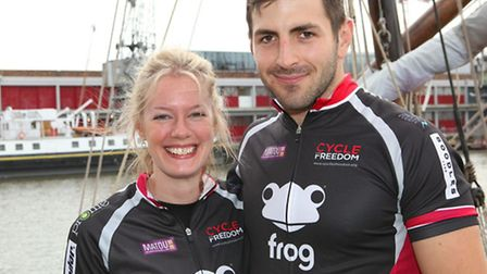 Oliver Wolfe and Anna Edwards of London Colney