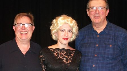 L-R Philip Reardon, Lucy Crick as Ruth Ellis, and Mike Newell.