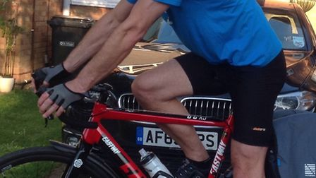 Peter took on his own 'Tour De France' by cycling more than 700 miles