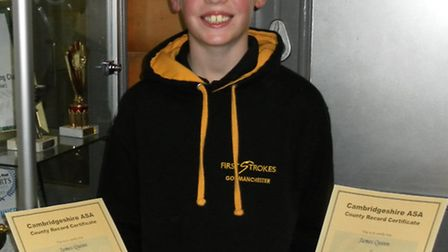 James with his county records