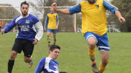 Jason Nicolaou, of St Albans IFC, was on the mark for the seventh time with a single goal against He