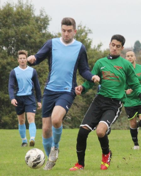 Pennine Spartans front man Jamie France, left, proved a handful for Vision Reserves when scoring two