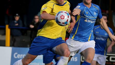 Steve Wales in action against Concord Rangers. Picture: Leigh Page
