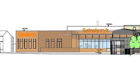 The new Sainsbury's store as seen from Brampton Road.
