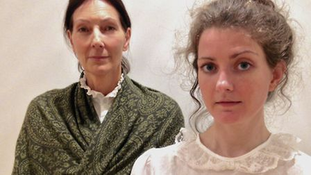 From left, Caroline Molony as May and Louise West as Eva in rehearsals for the show.