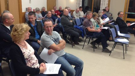 The meeting at All Saints Hall in Melbourn on Monday night.