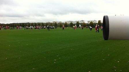 The Atlanta Falcons attracted plenty of media attention during their training session in London Coln