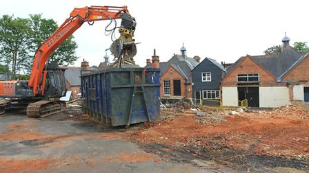 Demolition taking place ready for the construction of Harpenden Free School