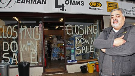 Dave Bhalla outside his store which is closing down after 75 years at this location