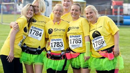 Running for Shine (from left) Stacey Guymer, Sianade Bell, Josephine Morton, Nicole Back, Kerry Wall