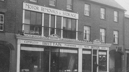 The High Street store in 1924, with Frank, left, and Archie Brittain.