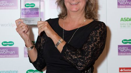 Heather Blackman with her award. Credit: Rebecca Bolton
