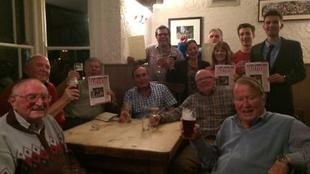 Regulars at the Fox and Duck pub in Therfield are backing landlord Ivan Titmuss' petition to see VAT