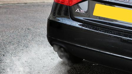 Fumes coming from a cars exhaust